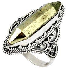 Titanium aura quartz (arkansas) 925 sterling silver ring jewelry size 8.5 j23589