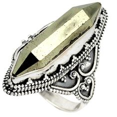 Titanium aura quartz (arkansas) 925 silver solitaire ring size 6.5 j23591