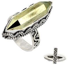 Titanium aura quartz (arkansas) 925 sterling silver ring jewelry size 6 j23595