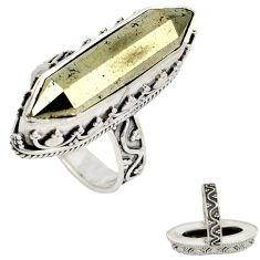 Titanium aura quartz (arkansas) fancy 925 sterling silver ring size 7 j23598