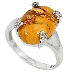 925 silver diamond brecciated mookaite (australian jasper) ring size 7 j43500