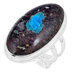 Natural blue cavansite 925 sterling silver ring jewelry size 6 j49841