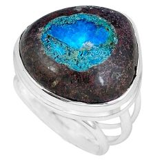Natural blue cavansite 925 sterling silver ring jewelry size 7.5 j49842
