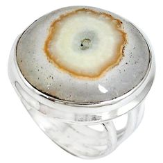 Natural white solar eye 925 sterling silver ring jewelry size 6 k37929