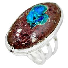 Natural blue cavansite 925 sterling silver ring jewelry size 9 k38821