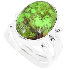 925 sterling silver natural green gaspeite ring jewelry size 6 k55831