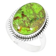 Natural green gaspeite 925 sterling silver ring jewelry size 6.5 k55834