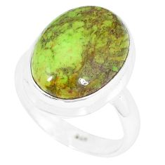 Natural green gaspeite 925 sterling silver ring jewelry size 7 k55839