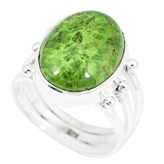 925 sterling silver natural green gaspeite ring jewelry size 6.5 k55840
