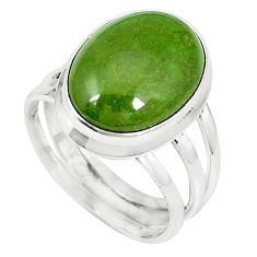Natural green gaspeite 925 sterling silver ring jewelry size 8.5 k64855