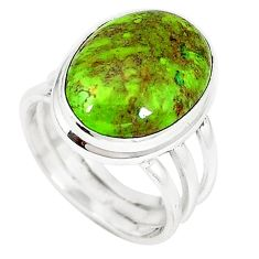 925 sterling silver natural green gaspeite ring jewelry size 6.5 k64856