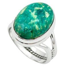 Natural green aventurine (brazil) 925 sterling silver ring size 8 k67201