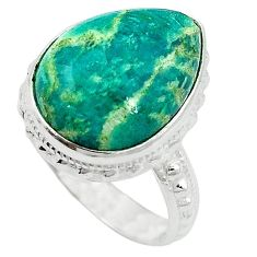 Natural green aventurine (brazil) 925 sterling silver ring size 7 k67202
