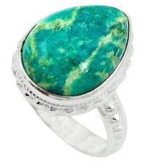 Natural green aventurine (brazil) 925 sterling silver ring size 7 k67202