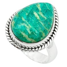 Natural green aventurine (brazil) 925 sterling silver ring size 6 k67207