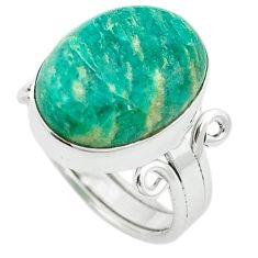 Natural green aventurine (brazil) 925 silver ring jewelry size 6.5 k67209