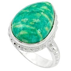 Natural green aventurine (brazil) 925 sterling silver ring size 7 k67211