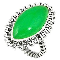 Green jade marquise 925 sterling silver ring jewelry size 7 k80328