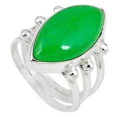 Green jade marquise 925 sterling silver ring jewelry size 6 k80442