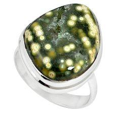 Ocean druzy fancy 925 sterling silver ring jewelry size 8 k87414