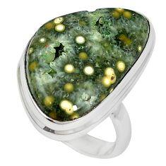 925 sterling silver ocean druzy fancy shape ring jewelry size 8 k87417