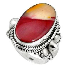 925 sterling silver natural brown mookaite ring jewelry size 6.5 k93044