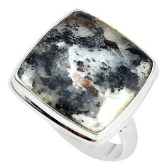 Natural bronze astrophyllite (star leaf) 925 silver ring size 9.5 m18475
