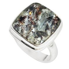 925 sterling silver natural bronze astrophyllite (star leaf) ring size 8 m18480