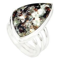 Natural bronze astrophyllite (star leaf) 925 silver ring jewelry size 8 m24832