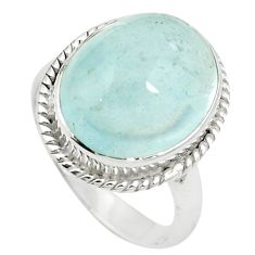 Natural untreated blue topaz 925 sterling silver ring size 8 m33602