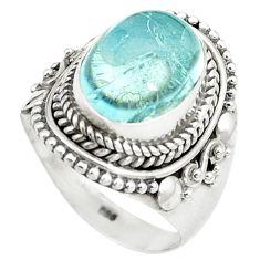 925 sterling silver natural untreated blue topaz ring size 7.5 m33605