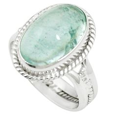 Natural untreated blue topaz 925 sterling silver ring jewelry size 8 m33606