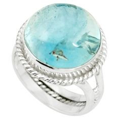 Natural untreated blue topaz 925 sterling silver ring size 5.5 m33607