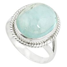 Natural untreated blue topaz 925 sterling silver ring size 9.5 m33608