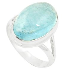 Natural untreated blue topaz 925 sterling silver ring size 9.5 m33610