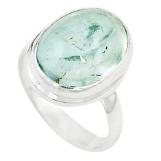 Natural untreated blue topaz 925 sterling silver ring size 5.5 m33611