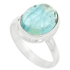 Natural untreated blue topaz 925 sterling silver ring jewelry size 8 m33614