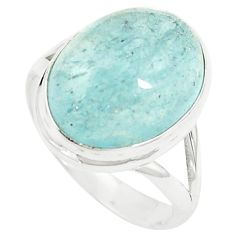 Natural untreated blue topaz 925 sterling silver ring size 7.5 m33615