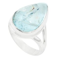 Natural untreated blue topaz 925 sterling silver ring size 5.5 m33617