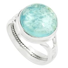 925 sterling silver natural untreated blue topaz ring jewelry size 8 m33618
