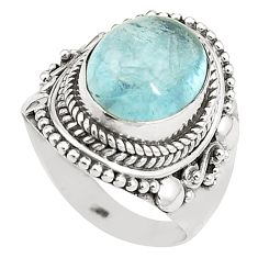 Natural untreated blue topaz 925 sterling silver ring size 7 m33915
