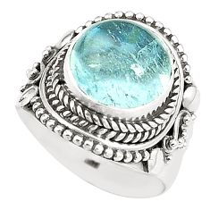 925 sterling silver natural untreated blue topaz ring jewelry size 7 m33917