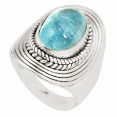 925 sterling silver natural untreated blue topaz ring jewelry size 6 m33920