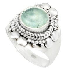 925 sterling silver natural untreated blue topaz round ring size 6 m34020
