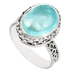 925 sterling silver natural untreated blue topaz ring jewelry size 7 m35913