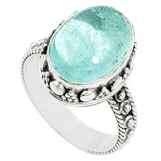 Natural untreated blue topaz 925 sterling silver ring size 7.5 m35914