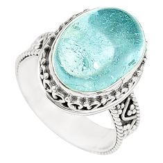 Natural untreated blue topaz 925 sterling silver ring size 6.5 m35915