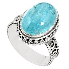 925 sterling silver natural untreated blue topaz ring size 7 m35916