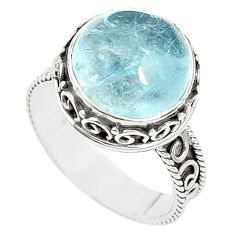 Natural untreated blue topaz 925 sterling silver ring size 7 m35917