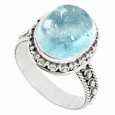 Natural untreated blue topaz 925 sterling silver ring size 7 m35918